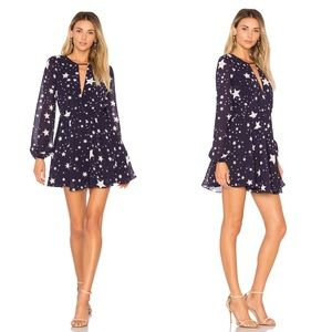 Lovers + Friends Lana Dress in Navy Star Print